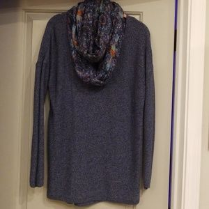 Sweater and infinity scarf